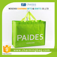 Best quality eco friendly green shopping pp plastic weave bags