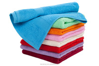 Discount cheap cotton terry solid dobby hand towel