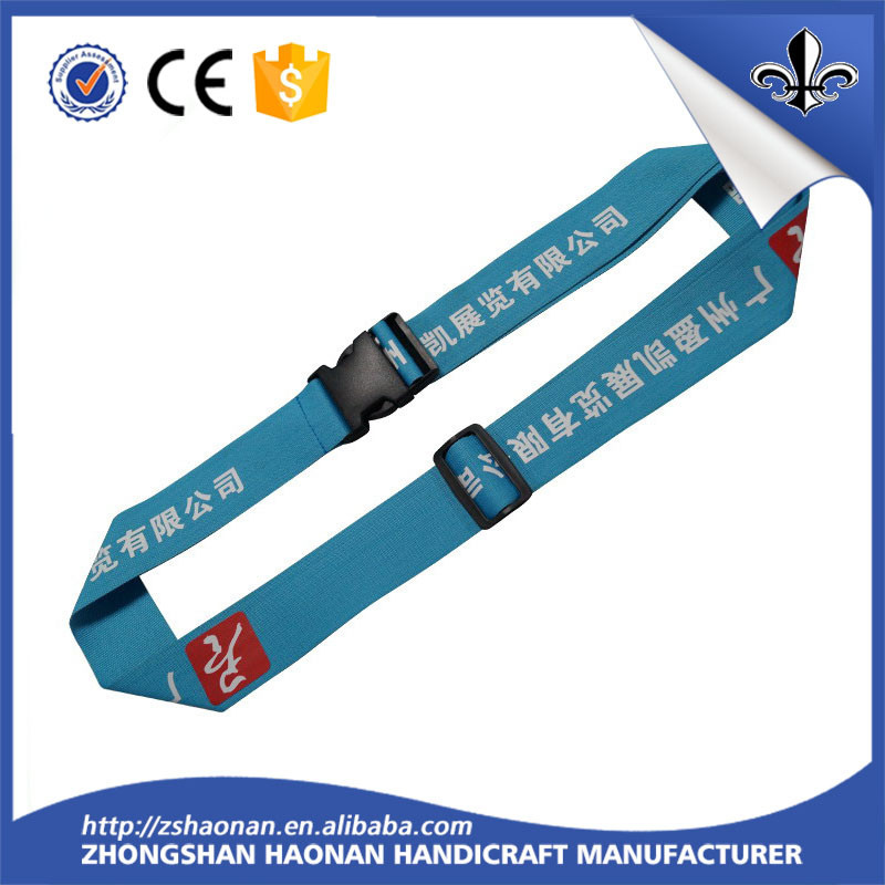 Sublimation printing belet with silkscreen logo luggage belt