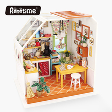 Robotime Jason's kitchen DIY Wooden Handmade Dollhouse doll house puzzle diy miniature house