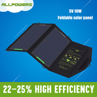 10w Foldable Solar Charger Mobile Phone Solar Battery Charger USB output Charger