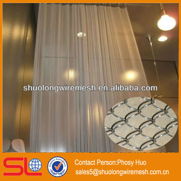 2013 new style!Decorative metal mesh curtain,hotel beaded curtain