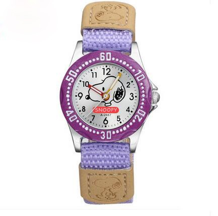 low price carton kids quartz slap watch with waterproof for child