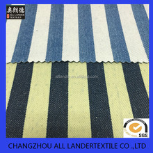 bule cotton strip printed denim fabric
