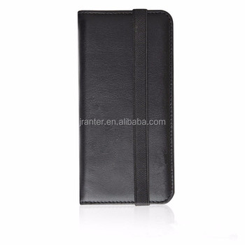 OEM for iPhone Case 6s Black Genuine Leather for iPhone 6 Hard Case Wallet