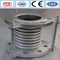 Flange type bellow coupling vibration absorber stainless steel expansion joint
