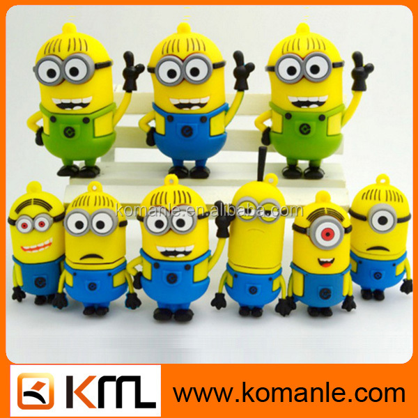 Custom cartoon pen drive usb 2.0/3.0 stick cartoon character usb flash drive for sale