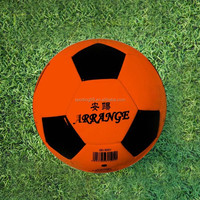 Official Size five JFFB120 orange color soft PU leather american soccer ball football
