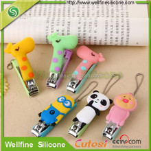 Cartoon silicone nail clippers in fashion 2016