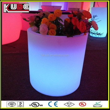 outdoor decoration illuminated plastic flower pots with discount