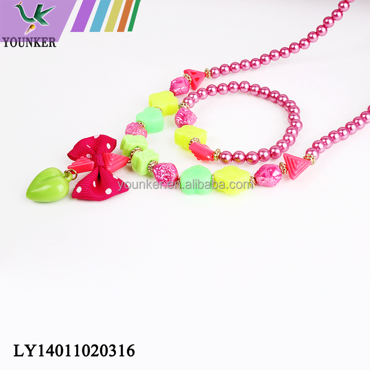 Latest Whole Sale Beaded Necklace Set For Kids