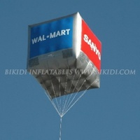 Custom logo inflatable cube balloon, square helium balloon for advertising K7021