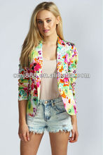 Womens winter Kallie Tropical Print Blazer