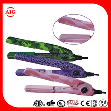 Professional hair crimper iron, moveable plate ceramic mini hair straightener