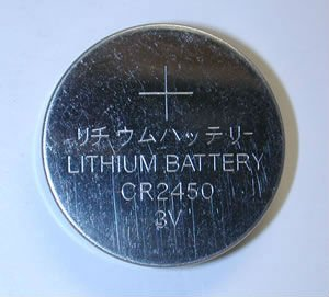 CR2450 Lithium Manganese Button Cell
