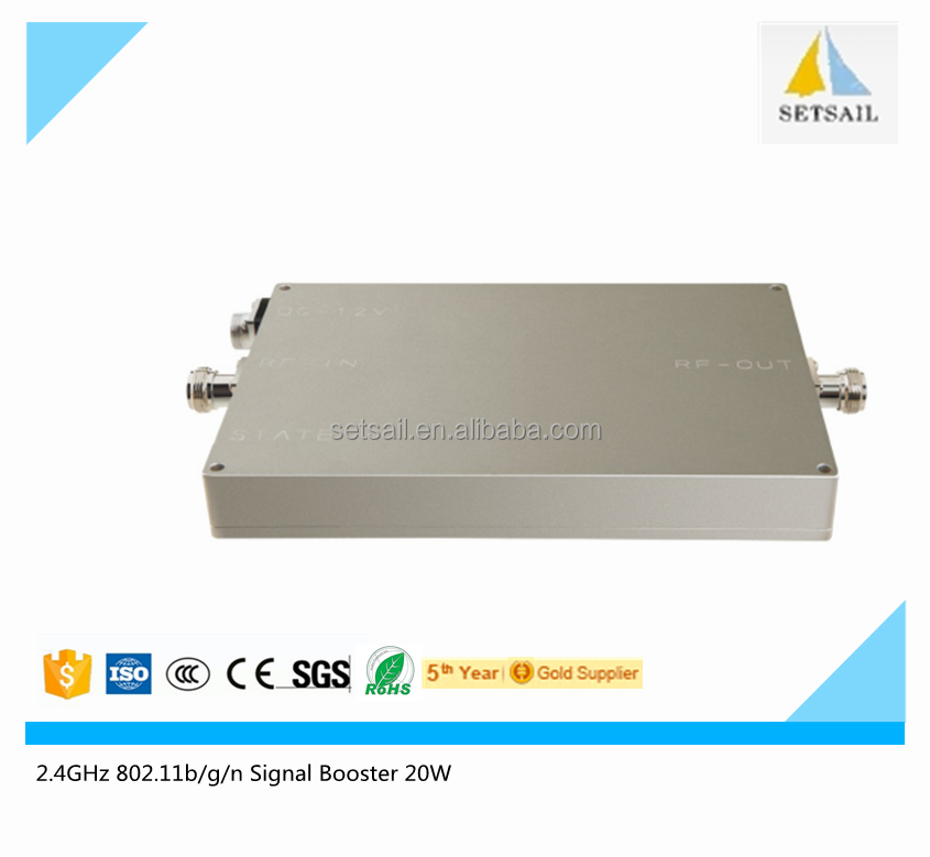 2.4G 802.11b/g/n 20W WIFI Signal Booster with 1000mW 2.4GHz wifi signal booster 20W for 5km outdoor wifi