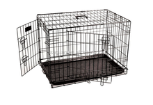 Foshan suguan folding metal iron wire dog cage with lock / dog kennel cage for sale cheap