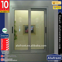 Powder Coated Aluminum Sliding Window with Touch Lock