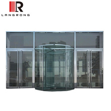 Full Glass Crystal Automatic Revolving Door for office buildings entrance