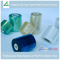 Manual PVC Wrap English Blue Stretch Film Price