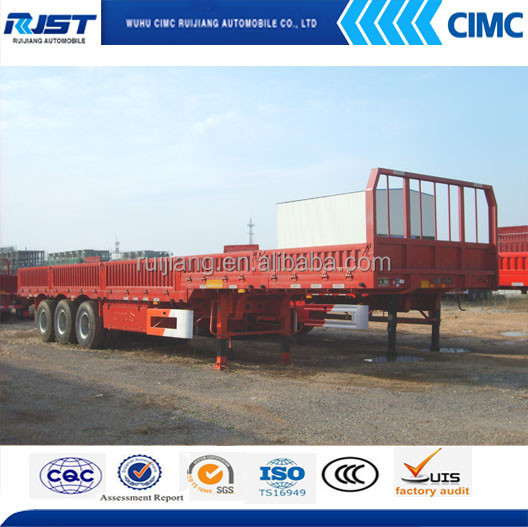 3 axles cargo trailer with side panels for bulk cargo transportation