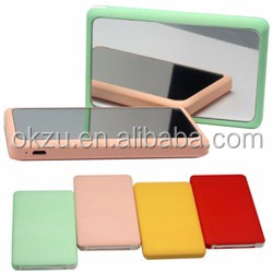 mix color power bank mirror mobile power 5000 mah portable charger for Samrt phone