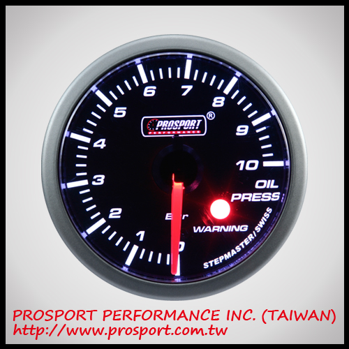 60mm Analog Stepper Motor Gauge Series Oil Pressure Gauge Super White Color w/sensor