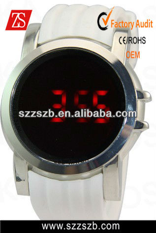 Fashion LED Digital Touch Screen Silicone Unisex Sport Wrist Watch