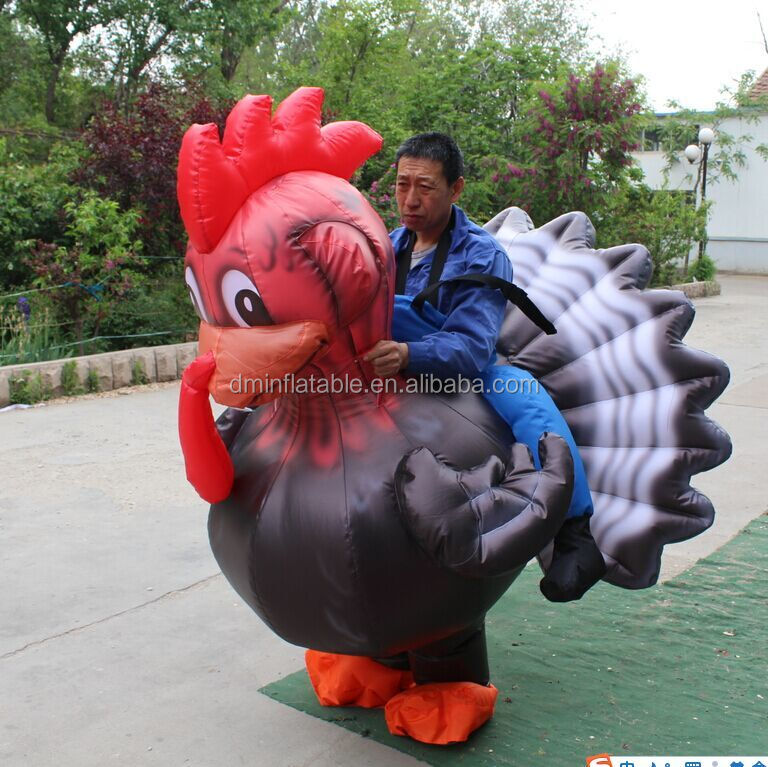 inflatable rooster costume