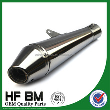 wholesale 125cc, 150cc, 250cc motorcycle exhaust, stainless steel racing motorcycle exhaust muffler