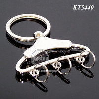 3D Mini Clothes-rack Shaped Metal Clothes Hanger Keychain