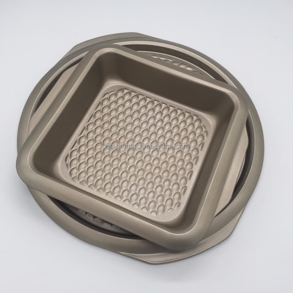 0.5mm thickness non stick square cake baking pan in yongkang