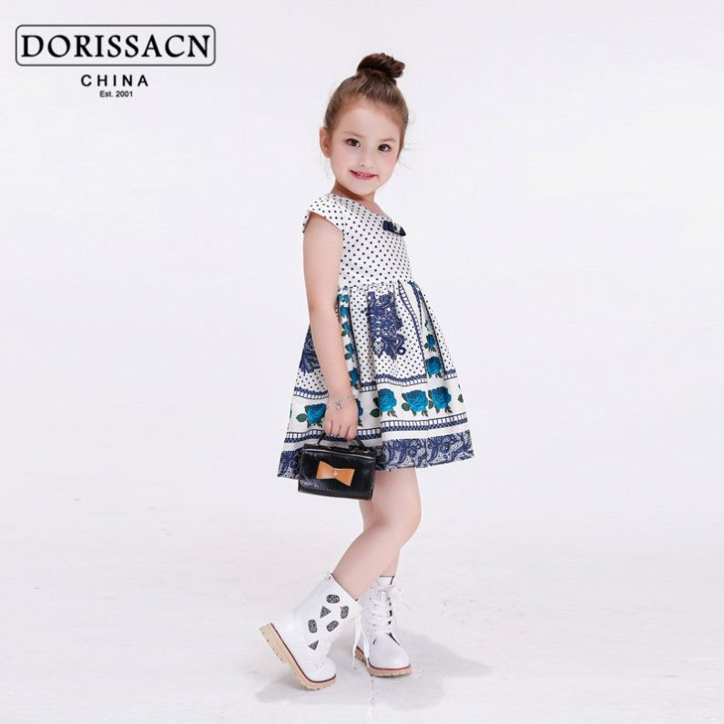 kids cotton frock baby girl satin dress inner wear for winter eiffel flower girl dress