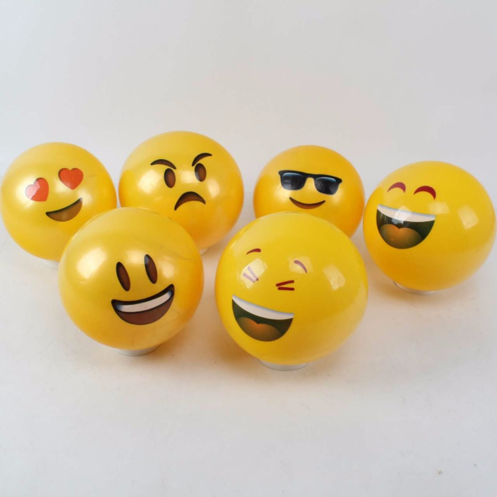 Hot Selling Custom Plastic PVC Hollow Soft Rubber Toy Face Emoji Stress Ball