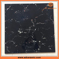 balck colors polished marble floor tiles