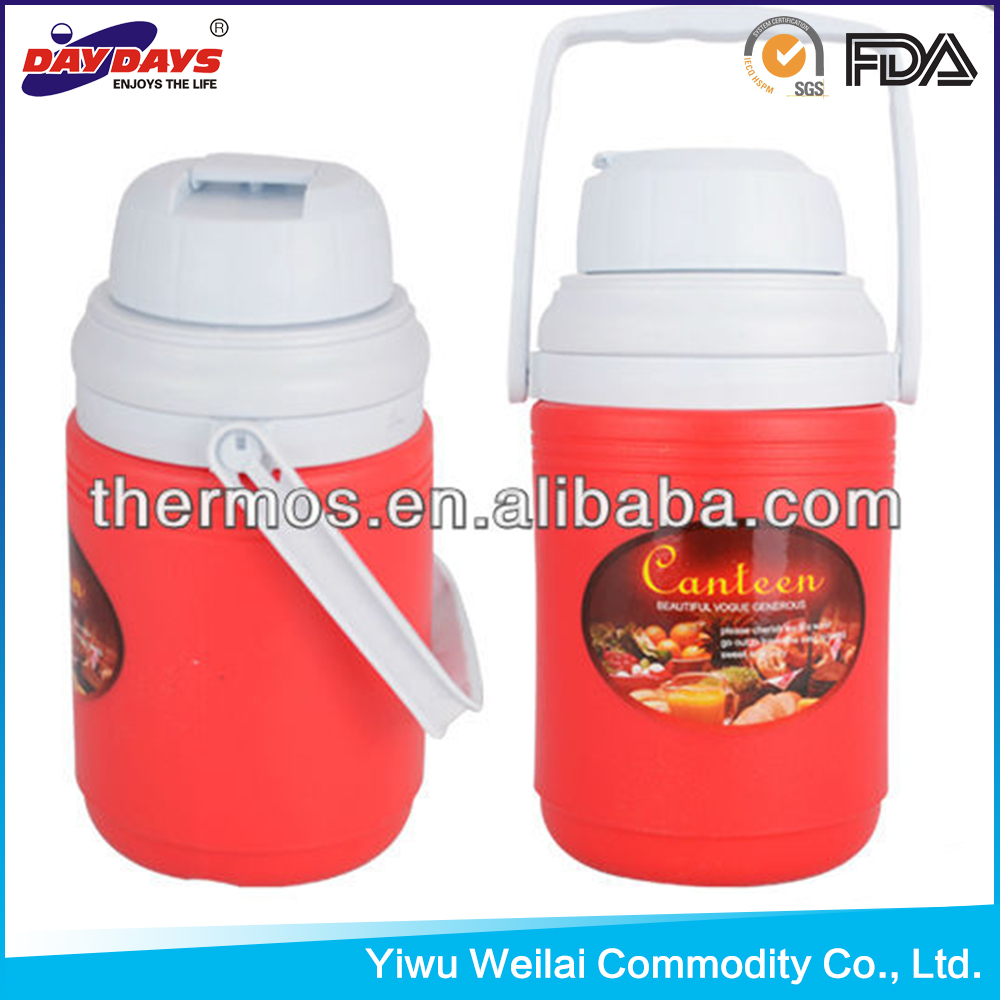 Most Popular Products 1250ml plastic water jug cooler box thermos water bottle warmer