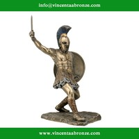 Bronze Hector with Sword and Shield Greek Sculpture