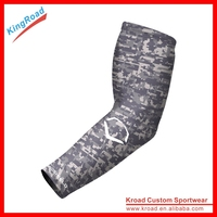 2016 custom camouflage compression arm sleeves/arm warmers with full sublimation printing