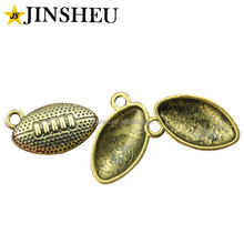 Wholesale cheap american soccer custom antique gold football charms