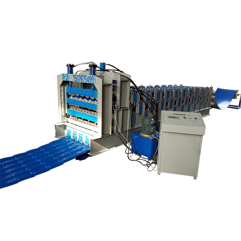 roof panel step tile roll forming machine price double layer steel sheet roller machine