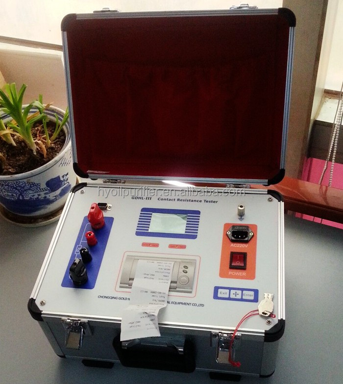 GDHL-III LCD Display Contact Resistance Tester for Circuit Breaker