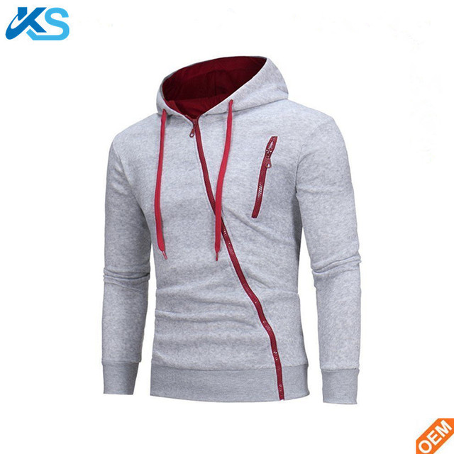 Wholesale Cheap Blank Melange Full Side Zip Assassins Creed Hoodie With Chest Zipper Pocket