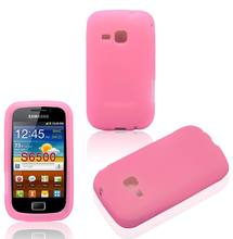 Fancy Mobile Phone Accessory For Samsung Galaxy mini 2 S6500 Silicone Gel Case Cover