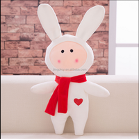 new 2016 stuffed animals plush rabbit toys with scarf