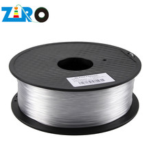 ZIRO Direct Sale High Transparency PETG filament for 3D printing Plastic Material 1.75MM