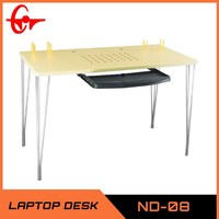 Hot sale modern wooden office computer table, stainless steel desk, working table ND-08