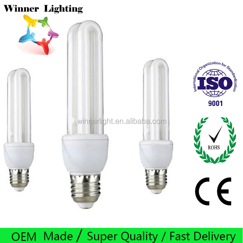 18w compact fluorescent lamp 3u energy saving bulbs 2u e27 cfl lighting
