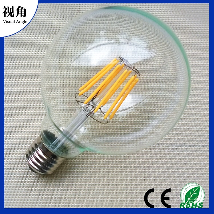 4W G95 Vintage Dimmable LED Filament Bulb, LED Light Bulb, Warm White, LED Edison Bulb 40 Watt Incandescent Replacement