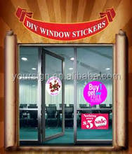 Customized Transparent Window Cling PVC Sticker,Static Clings