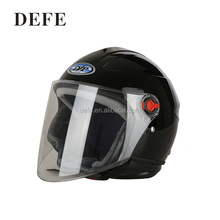 Defe motorcycle accessories black half face helmets